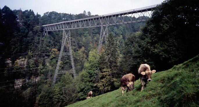 Der höchste Fussgängersteg Europas stammt aus dem Jahr 1937.